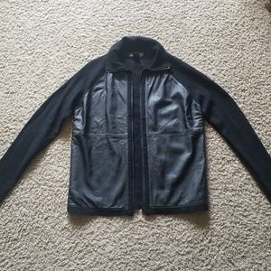 Vintage wool and leather jacket